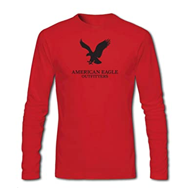 97034c0e4 Amazon.com: American Eagle Outfitters Logo for Men Printed Long Sleeve  Cotton T-Shirt: Clothing