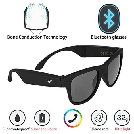 edb5eb611f G1 Bone Conduction Headphones Polarized Glasses Sunglasses kkcite CSR8635  Bluetooth 4.0 Headset SmartTouch Stereo Music Earphone