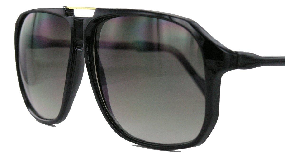 Retro Sonnenbrille 70er 80er Jahre Flat Top Rahmen Damen Herren WY (Braun) G3HJ5fgxcQ