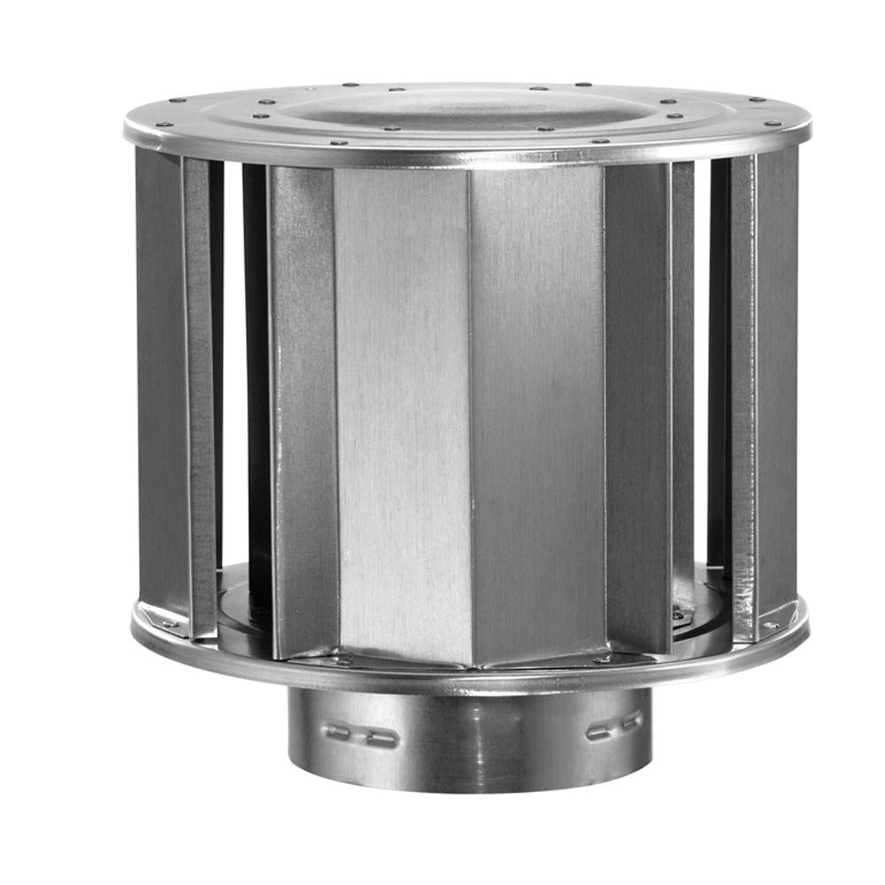 "DuraVent 6"" Type B Gas Vent Rain Cap for high-wind regions"