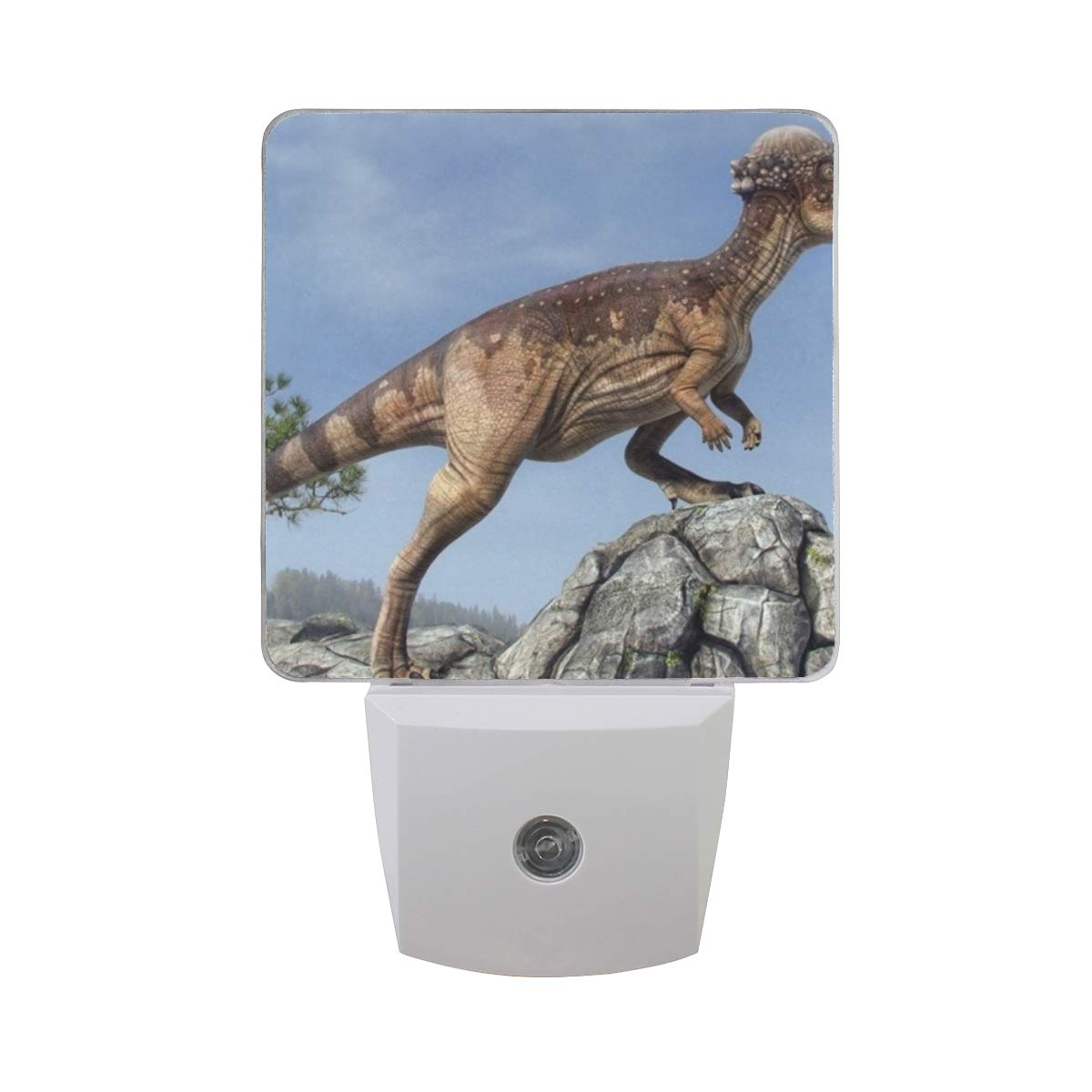 Night Light Dinosaur Tree Rocks Sky Led Light Lamp for Hallway, Kitchen, Bathroom, Bedroom, Stairs, DaylightWhite, Bedroom, Compact