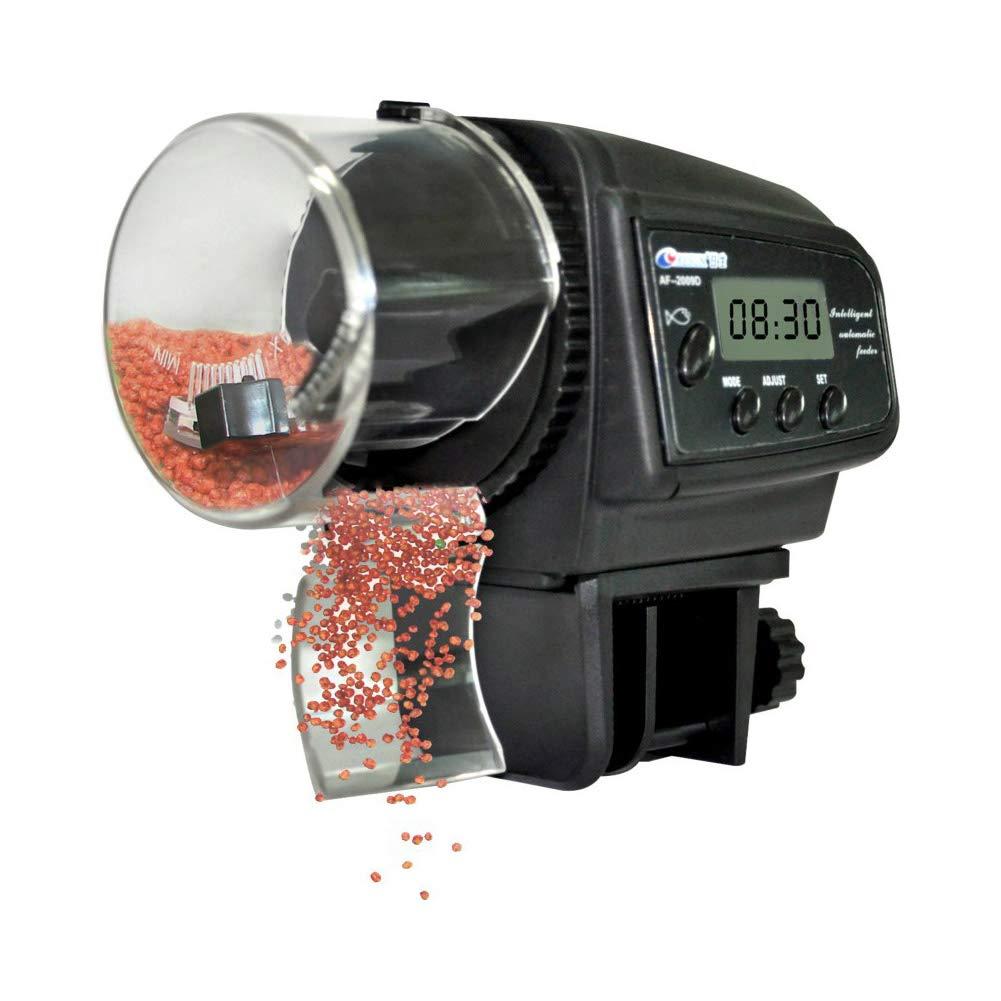 NICREW Distributeur Automatique de Nourriture pour Poissons avec Ecran LCD, Distributeur Poissons Reglable Multifonctionnel pour Aquarium£¨S 00496
