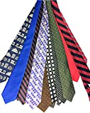 1000 Mixed Ties Solid Striped Pattern Neckties Silk and Polyester Wholesale Lot