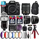 Holiday Saving Bundle for D7500 DSLR Camera + 35mm 1.8G DX Lens + AF-P 18-55mm + Battery Grip + Shotgun Microphone + LED Kit + 2yr Extended Warranty + 32GB Class 10 Memory - International Version