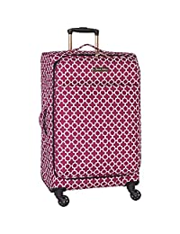 Jenni Chan 0120024SCRB Aria Broadway 24-Inch Upright Spinner, Cranberry, Checked-Medium
