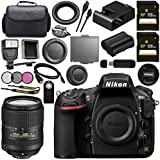 Nikon D810 DSLR Camera 1542 AF-S DX 18-300mm f/3.5-6.3G ED VR Lens 2216 + 128GB SDXC Card + 67mm 3 Piece Filter Kit + Universal Slave Flash unit + Mini HDMI Cable + Carrying Case Bundle