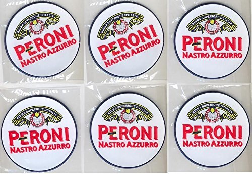 peroni-nastro-azzurro-rubber-bar-coasters-spill-mats-set-of-6-new