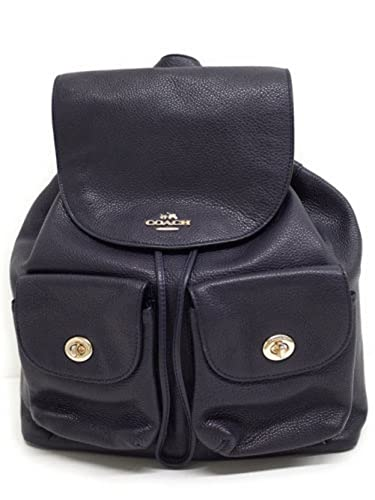 3dc2527c295e Amazon.com  Coach Pebbled Leather Backpack F37410 Black  Shoes