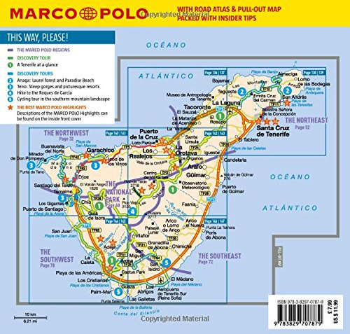 Tenerife Marco Polo Pocket Travel Guide 2018 with pull out map