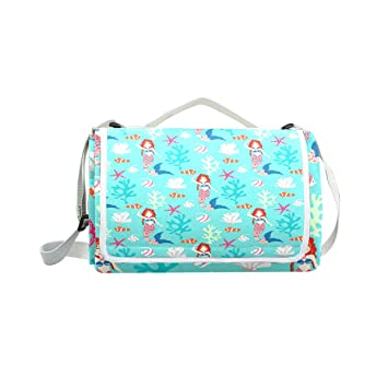 bc37e1fcf724 Outdoor Camping Picnic Beach Blanket Mat Underwater Mermaid Lightweight  Portable Folding Travel Pad 57 quot  ...