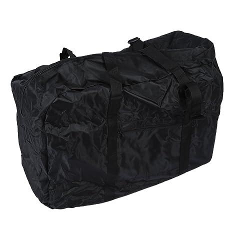 Sacca Bici Pieghevole.Sodial R Bike Pieghevole Carrier Bag Double Pannier Telaio Anteriore Triangolo Strumento Tubo Colore Nero E Rosso