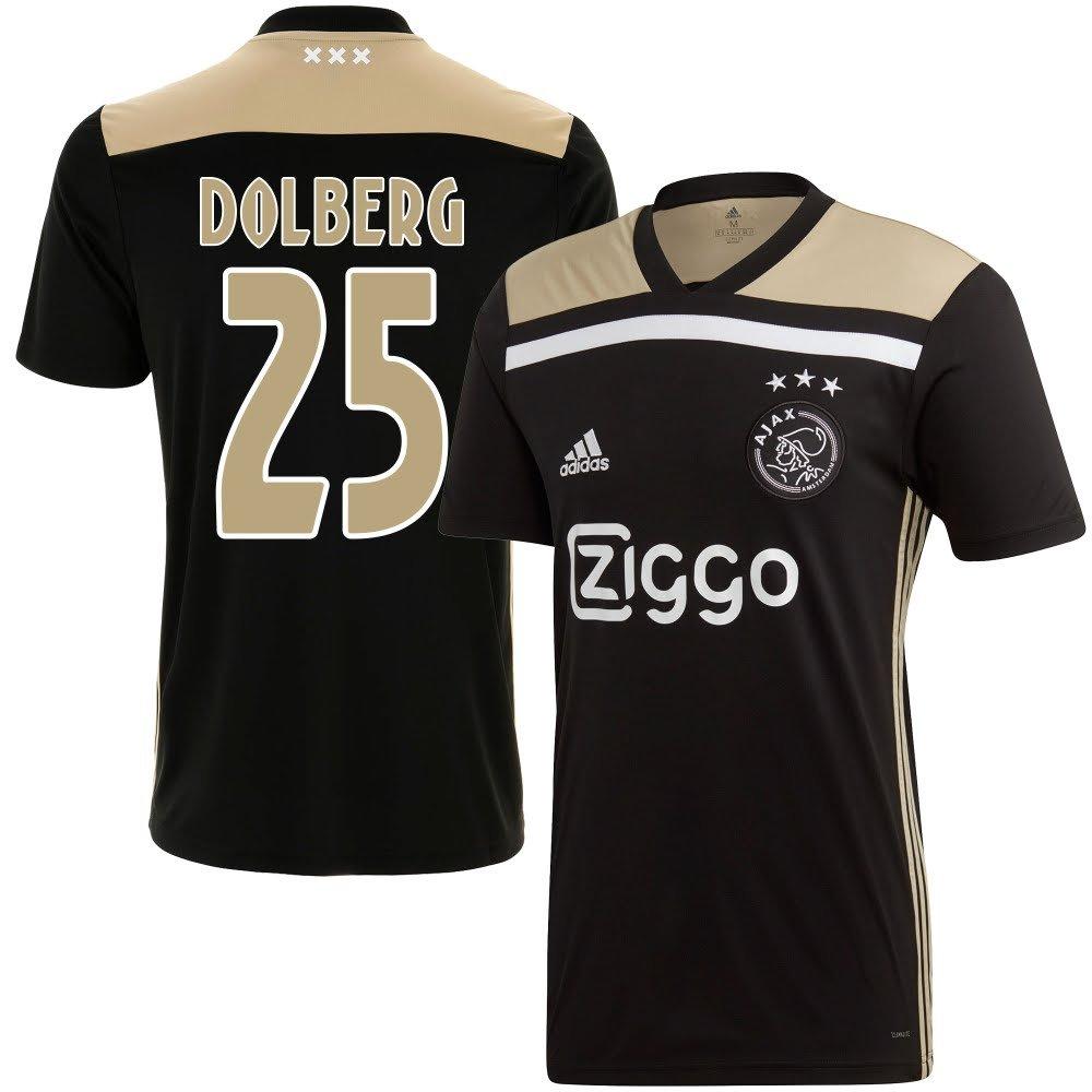 Ajax Away Trikot 2018 2019 + Dolberg 25 (Fan Style) - XL