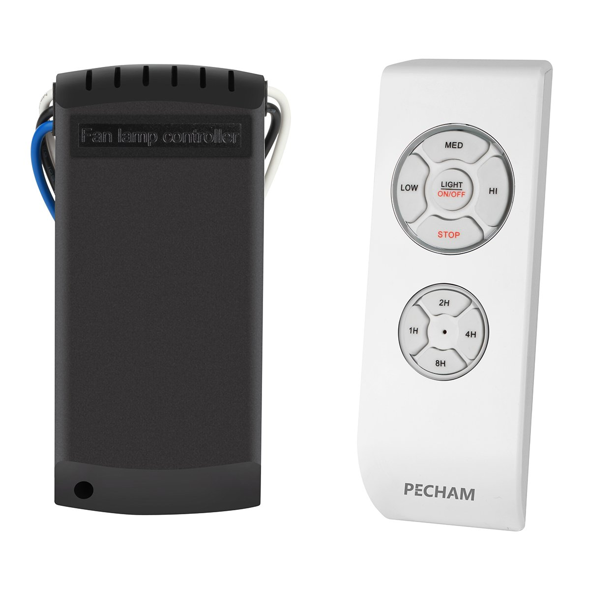 PECHAM FBA F2 Universal Lamp Kit and Timing Wireless Remote Control for Ceiling Fan, Scope of Application [Home/Office/ Hotel/The Club/Display Hall/Restaurant], 2