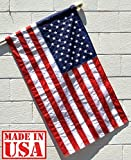 Outdoor Flags US Flag Factory 3'x5' US AMERICAN FLAG (Pole Sleeve) Outdoor SolarMax Nylon Flag (Embroidered Stars & Sewn Stripes) - Made in America