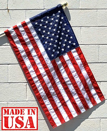 Embroidered Nylon American Flag - 9