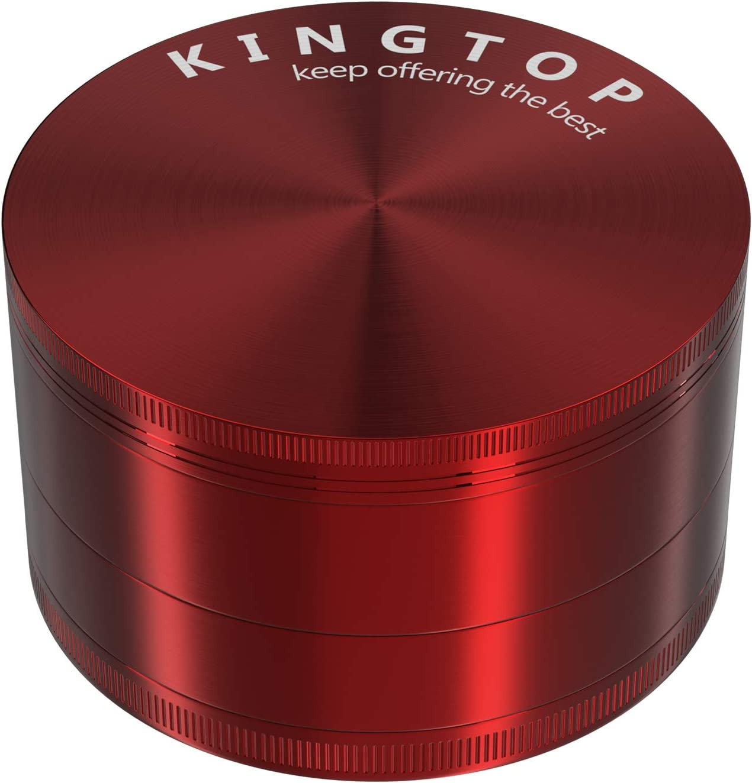 Kingtop Herb Spice Grinder Large 3.0 Inch Red