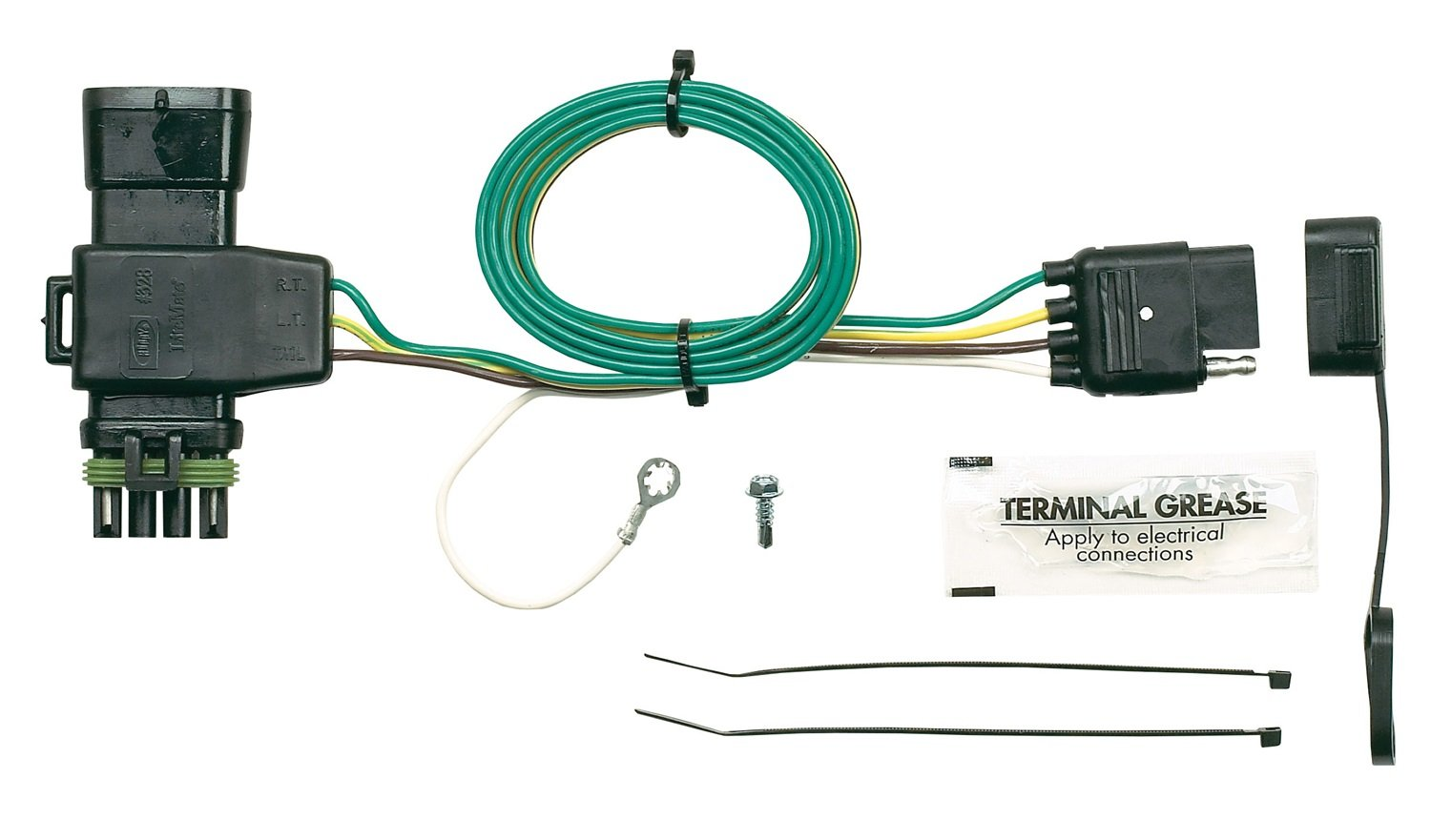 Hopkins 41125 Plug In Simple Vehicle Wiring Kit Automotive Pole To 6 And 4 Trailer Adapter