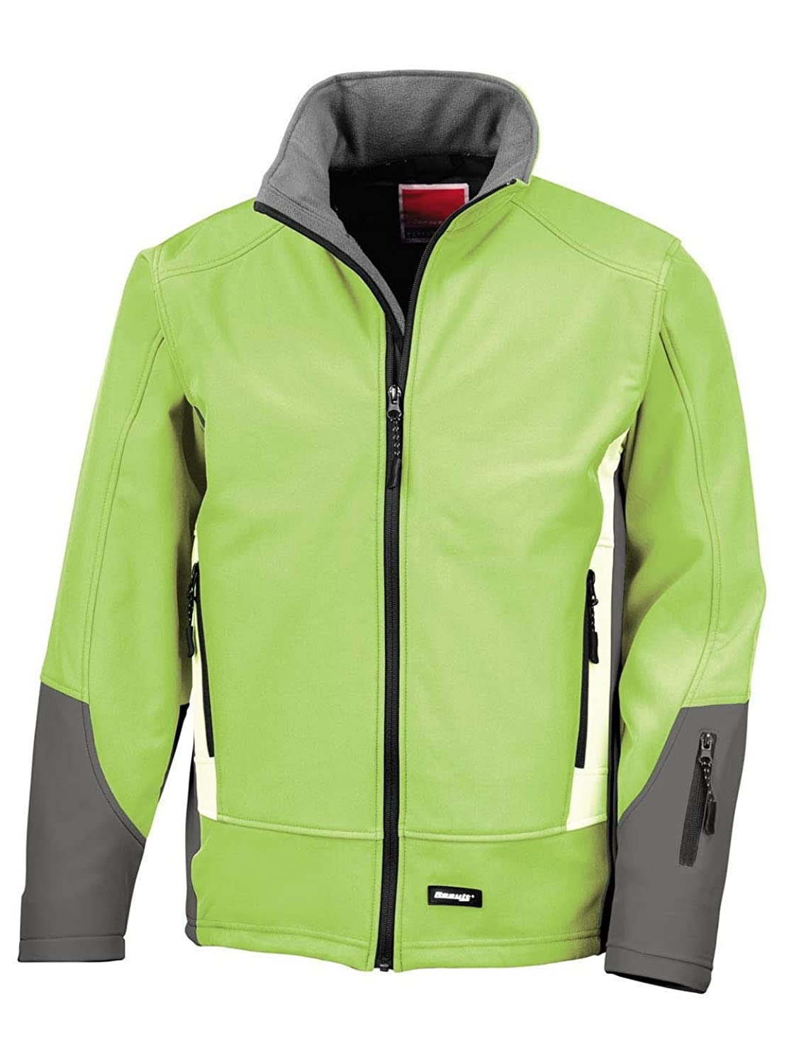 Result R119X Blade 3 Layer Softshell Jacket Lime/Charcoal/Pale Grey L