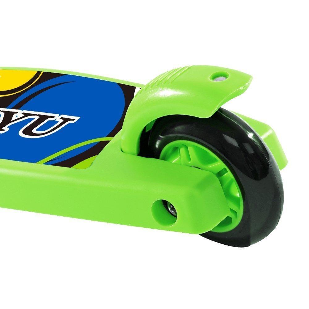 Patinete de 3 ruedas Patinete Plegable con 3 Brillante Ruedas Scooter Regulable de Altura Monopatín Portátil para Niños de 2 a 5 Años