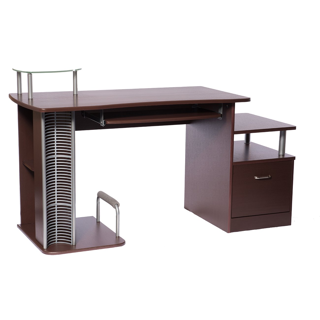 Amazon.com: Complete Computer Workstation With Storage. Color: Chocolate:  Kitchen U0026 Dining