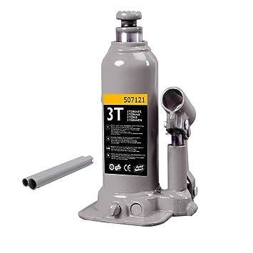 Autoselect 507073 - gato hidráulico de botella 3tonnes elevación Max: 374 mm - Mini: 194 mm: Amazon.es: Coche y moto