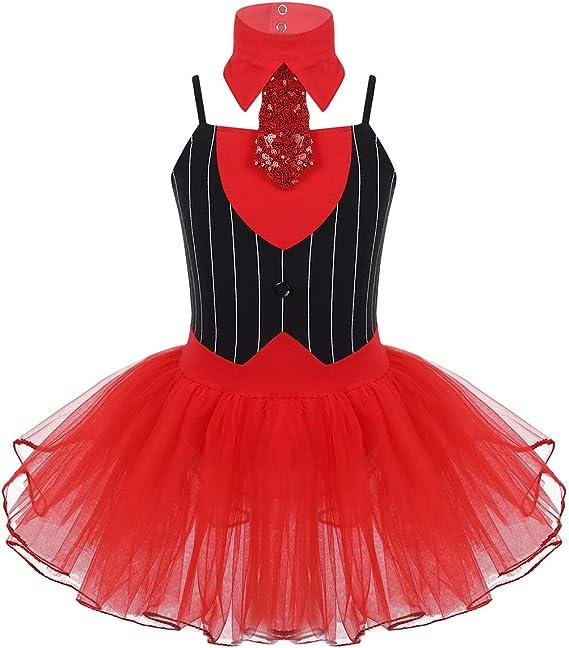 iixpin Vestido de Danza 2Pcs Vestido de Tirante-Corbata Maillot ...