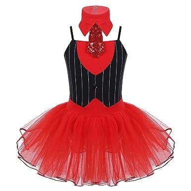 IEFIEL Disfraz Bailarina de Ballet Niña Vestido Tutú de Fiesta ...