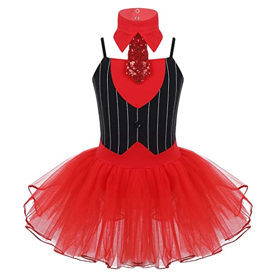 CHICTRY Disfraz de Circo Niñas Maillot de Danza Ballet Cosplay de ...