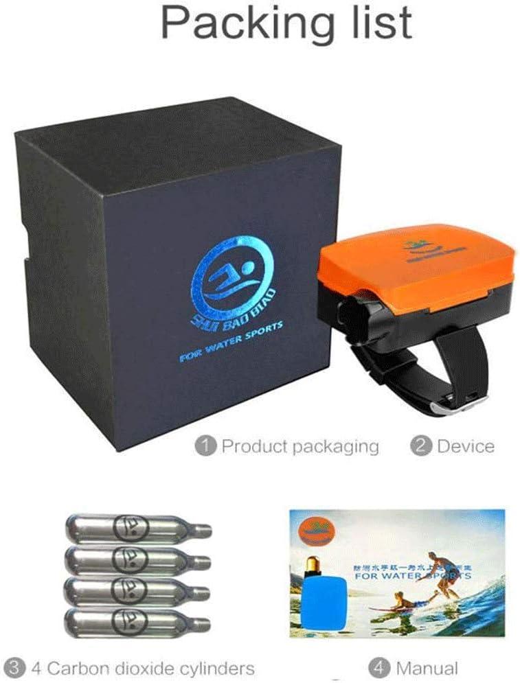 Pulsera port/átil para la prevenci/ón de inundaciones BOLLAER Pulsera antiahogamiento para Deportes al Aire Libre Suministros de Salvamento nataci/ón con Bolsa de Aire Inflable