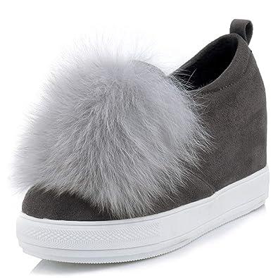 Mujer Mocasines Plataforma Zapatos OtoñO Invierno Corto Felpa Slip-On Altura Incrementada Calurosamente Calzado Calzado: Amazon.es: Zapatos y complementos