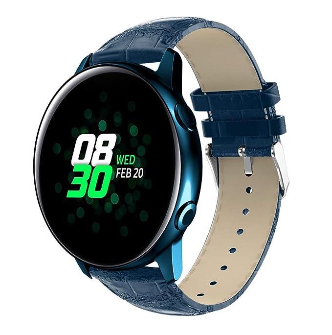 Mosstars Correas para Relojes para Samsung Galaxy Watch Active, Reemplazo de Reloj Pulsera de Cuero Correa Correa de Repuesto Correa de Reloj Pulseras de ...
