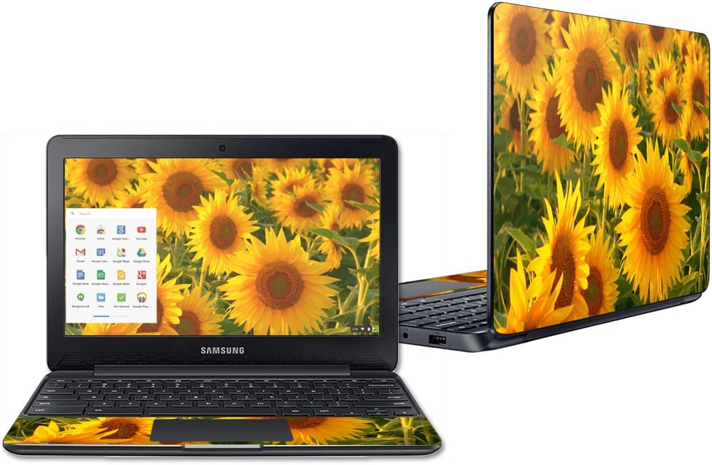 """Mightyskins Skin Compatible with Samsung Chromebook 3 11.6"""" Wrap Cover Sticker Skins Sunflowers"""
