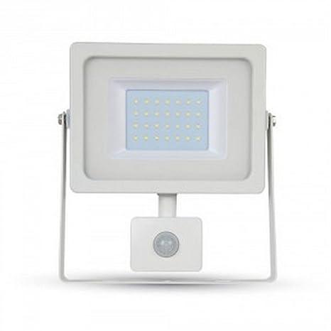 Faro LED 30 W 2550lm 100 ° V-TAC aluminio Ultra Fina Slim Blanco Sensor