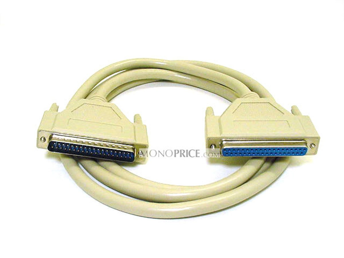 Monoprice 100514 6-Feet DB37 M/F Molded Cable (100514)
