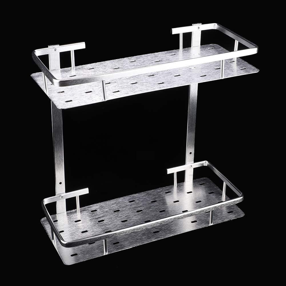 stronerliou Space Aluminio montado en la Pared 2 Niveles Cocina Ba/ño Estante de Almacenamiento Estante Organizador del hogar
