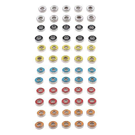 Homyl 60 Pcs Rodamientos de Ruedas para Patines Piezas de Repuesto para Cortacéspedes