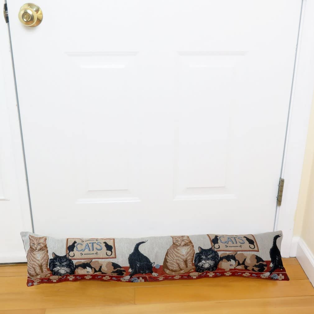 Evelots Cat Door Window Draft Stopper-Stop Cold Air,Dust,Insects,Noise-38 Inches
