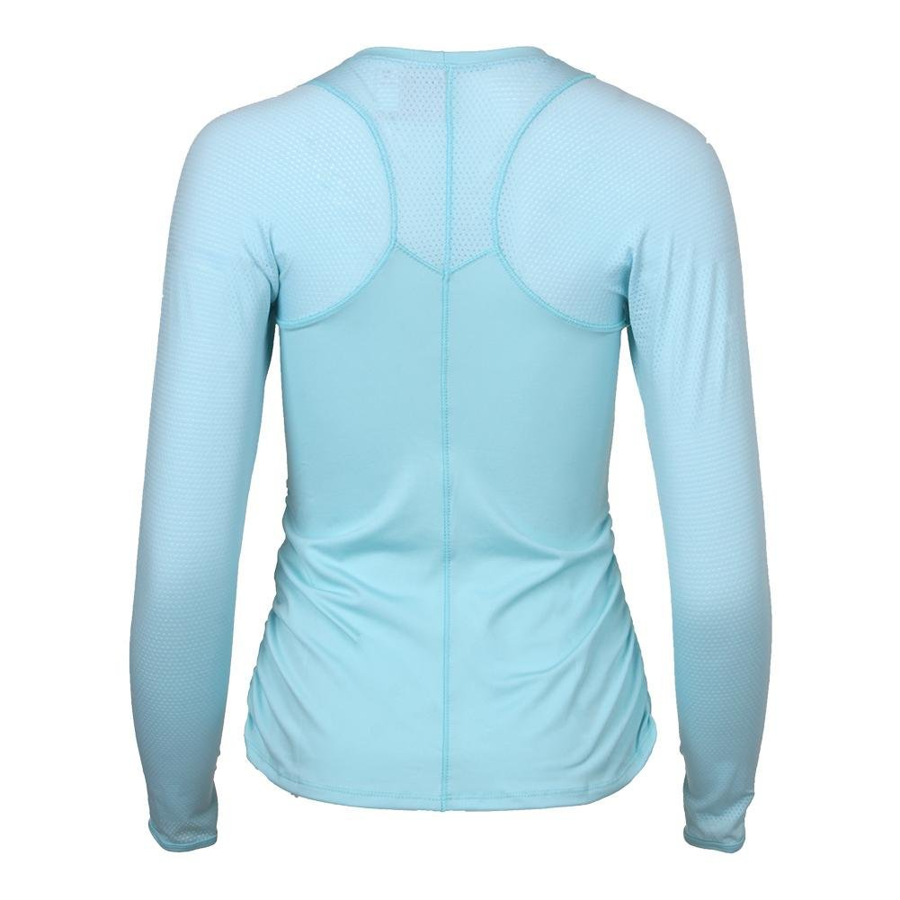 Lucky In Love Women`s Contour Long Sleeve Tennis Top Aquafrost-(655295867397) by Lucky In Love (Image #4)