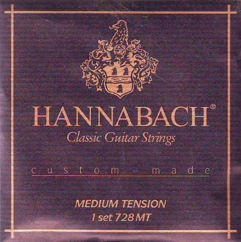 Hannabach Classical Guitar Medium Tension Nylon/Silver, 728-MT