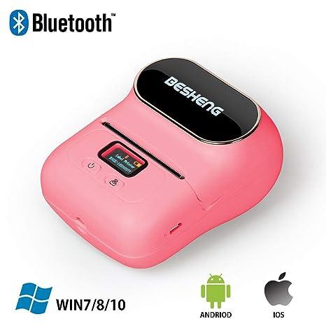 Amazon.com: BESHENG M110 - Impresora de etiquetas portátil ...