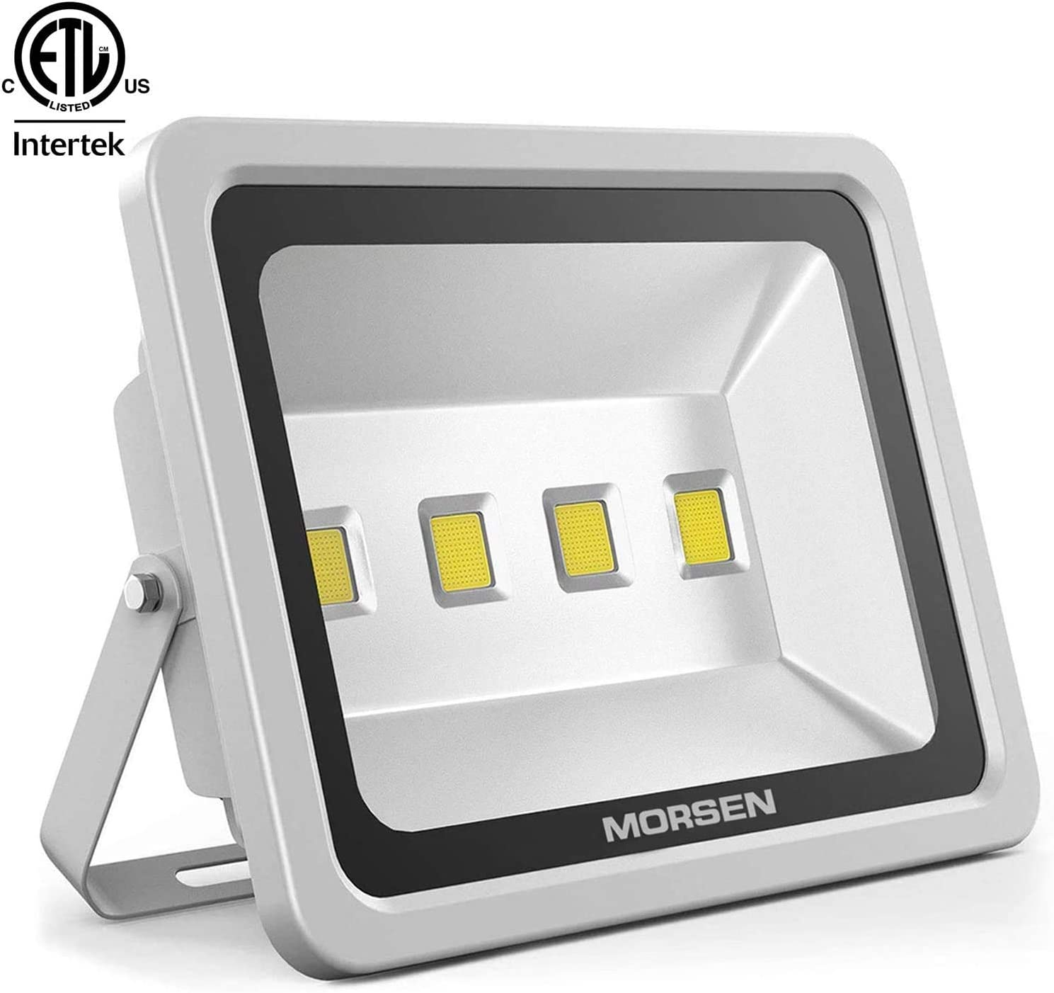 MORSEN LED Flood Light 200W, ETL Listed Waterproof IP65 Outdoor 20000lm 6000K Flood Spotlight for Garden Yard, Party, Playground, Warehouse, Billboard, Garage, Commercial Lighting