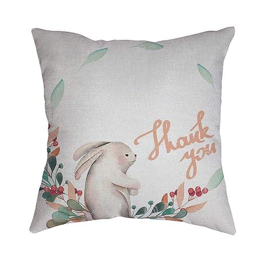 VJGOAL Conejo de Moda de Pascua de impresión Suave Funda de ...