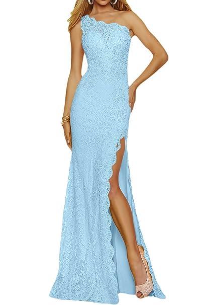 ivyd ressing Mujer una ranura de hombro de punta larga Fiesta Vestido Prom para vestido de