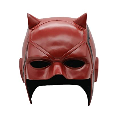 Hongzhi Craft Daredevil Matt Murdock Mask Movie PVC Helmet Half Face Cosplay Costume Halloween Party Props: Toys & Games