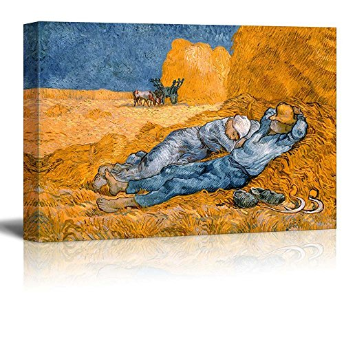 Noon Rest from Work by Vincent Van Gogh Print Famous Painting Reproduction