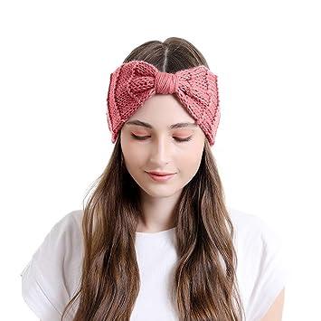 Women Crochet Knitted Wool Ear Warmer Cross Headband Headwrap Hairband Turban US