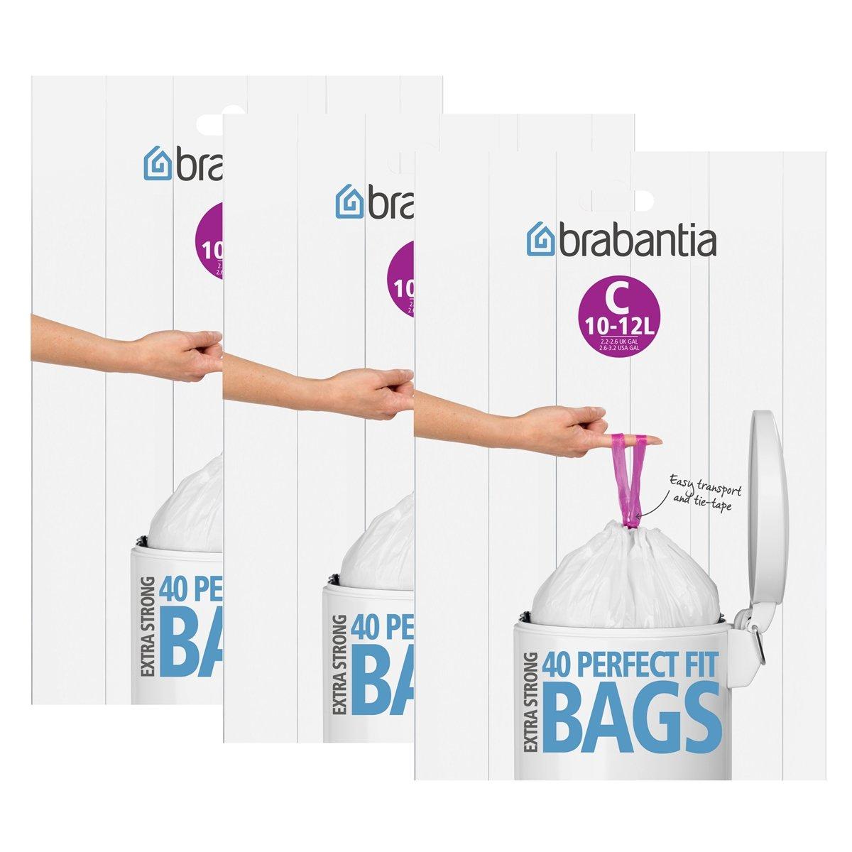 Brabantia - Bolsas de basura (12 L, 3 paquetes de 40 unidades, tipo C)