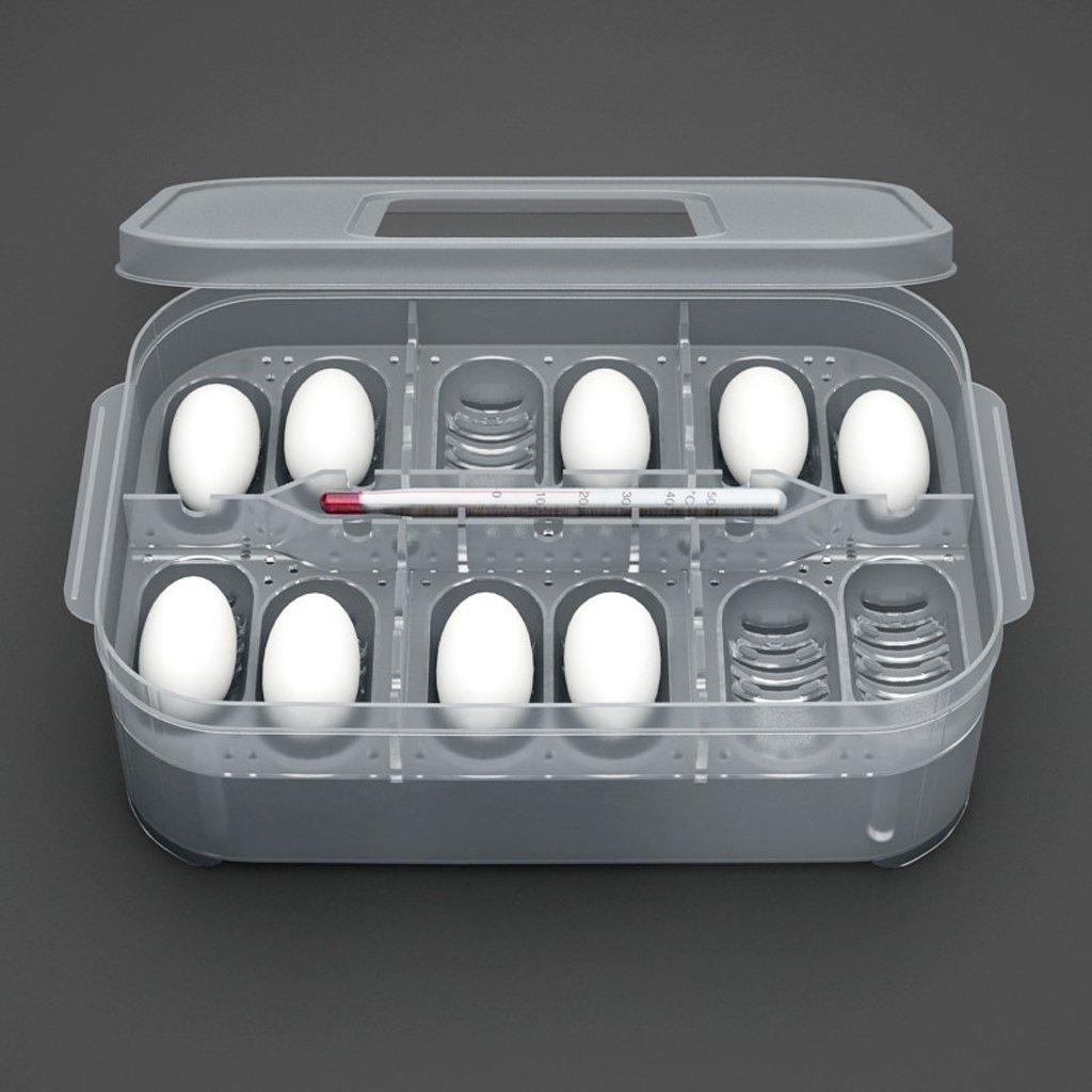 Sharplace Contenitore Di Incubazione CM Rettile Uovo Scatola in Plastica Cova con 12 Fori di Uovo - #1