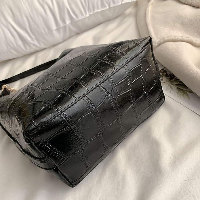 Women Handbag Bucket Bag Texture of Stone Leather Chain Crossbody Bag Original Design Shoulder Bag Handbag: Handbags: Amazon.com