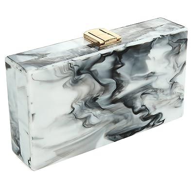 Amazon.com: Mujer caja de bolso de embrague plexiglás de ...